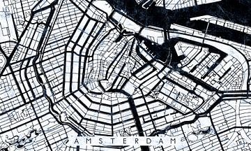 Amsterdam Stadskern Stratenplan Wit van Maarten Knops