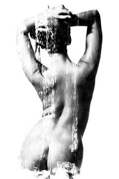 Naakte vrouw in sensuele Sauna Spa stijl gefotografeerd. #B2119 van william langeveld