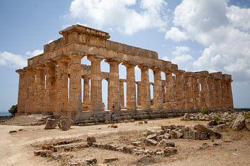 Selinunte oude tempel van Kees van Dun
