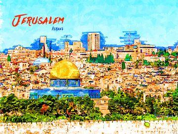 Jerusalem von Printed Artings