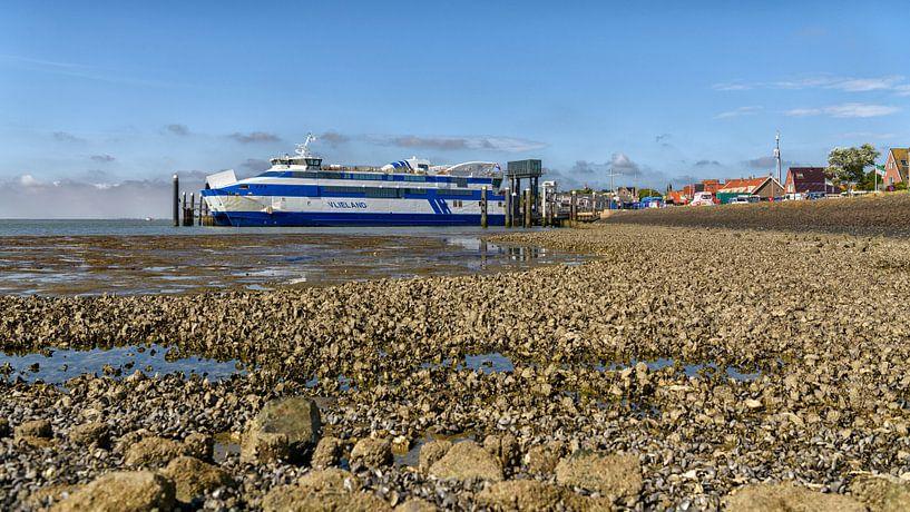 Veerboot Vlieland aan de Veerdam (dag) van Roel Ovinge