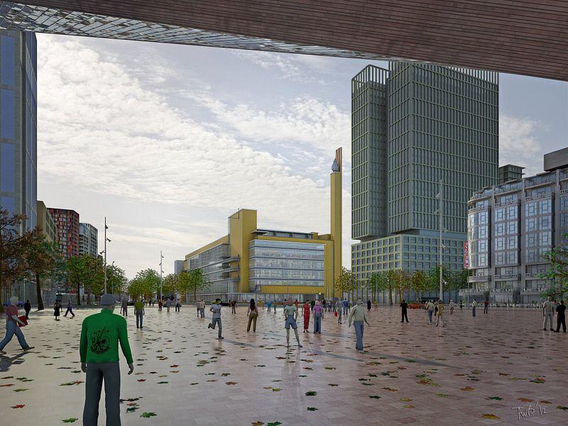 Dudok's Bijenkorf herbouwd, Rotterdam van Frans Blok