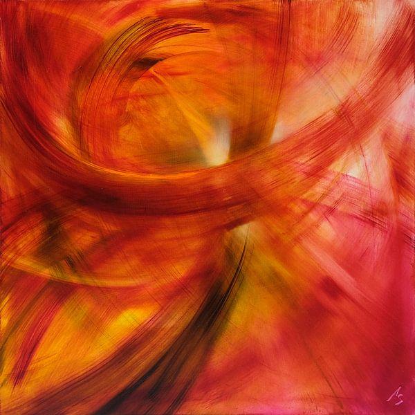 Roter Lichtertanz von Annette Schmucker