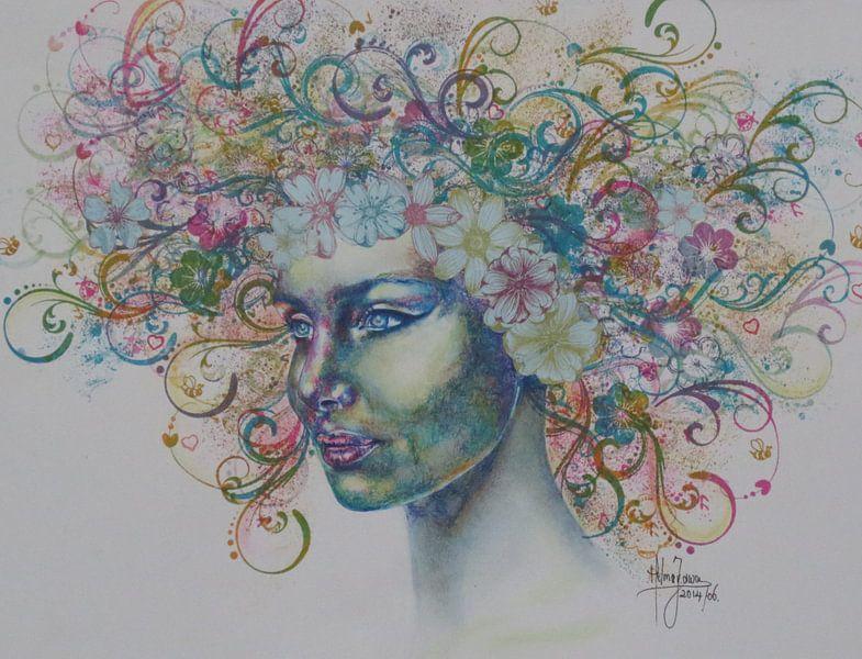 Bloemenmeisje van Helma van der Zwan