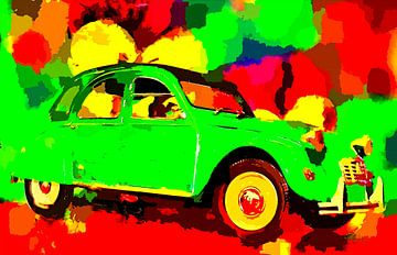 Pop Art 2CV von Jean-Louis Glineur alias DeVerviers