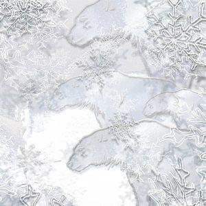 Digitale Arbeit mit Eisbären