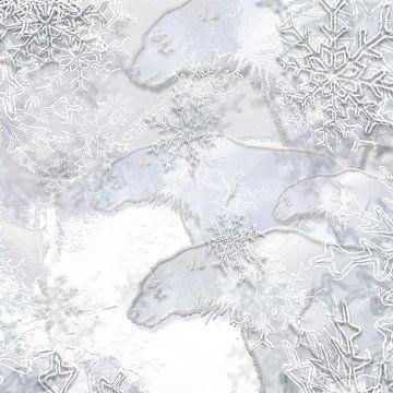 Digitaal werk met ijsberen van Ton Kuijpers