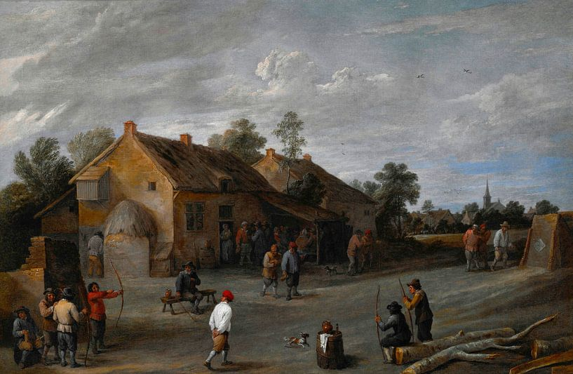 Die Bogenschützen, David Teniers II von Meesterlijcke Meesters