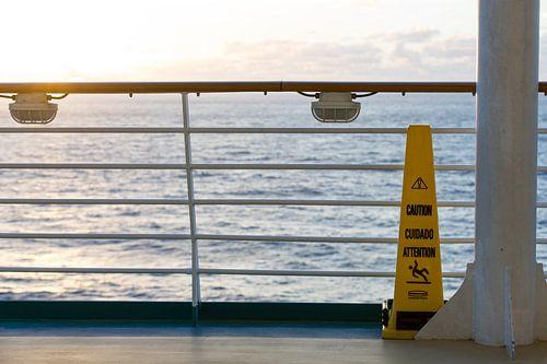 Cruiseschip op zee
