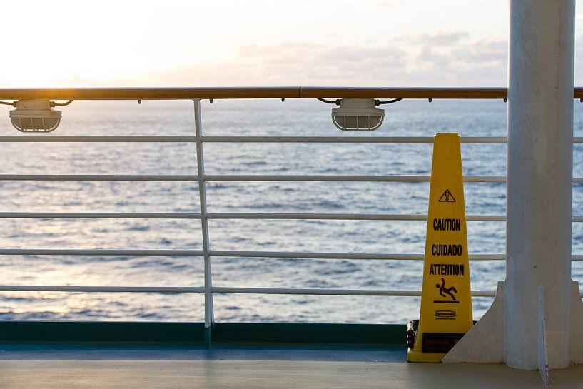 Cruiseschip op zee sur Gertjan koster