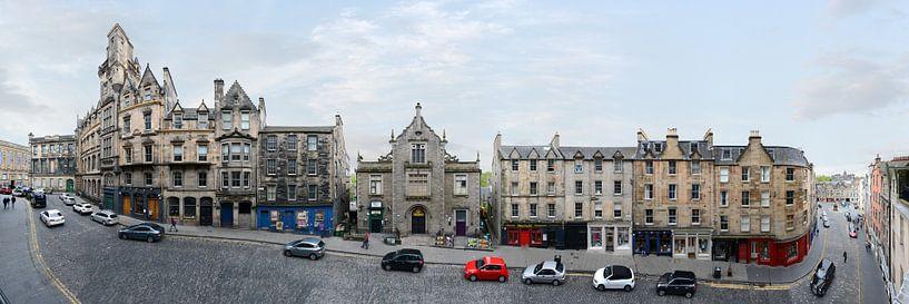 Edinburgh Victoria Street Panorama von Panorama Streetline
