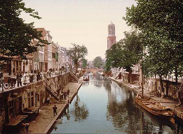 Oude gracht en Hamburgerbrug, Utrecht von Vintage Afbeeldingen