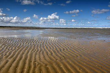 Rimpels noordzeestrand Texel van