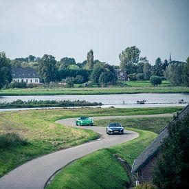 Jaguar F-Type - Porsche Boxster sur Sytse Dijkstra