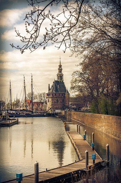 Hoorn havengezicht van Marco de Graaff