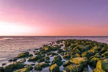Sonnenuntergang am Strand von Katwijk von Richard Steenvoorden