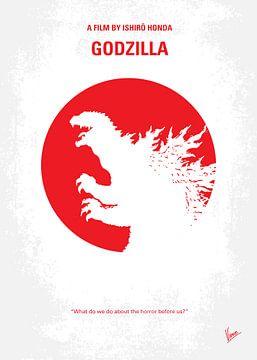 No029-1 My Godzilla 1954 minimal movie poster van Chungkong Art