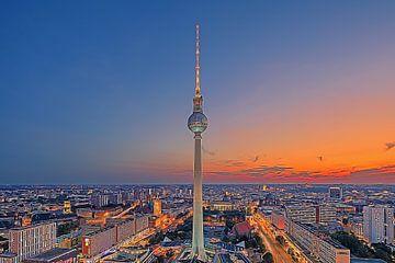 Zonsondergang in Berlijn