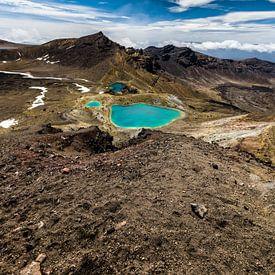 Emerald Lakes - Tongariro NP - Nieuw Zeeland van Ricardo Bouman | Fotografie