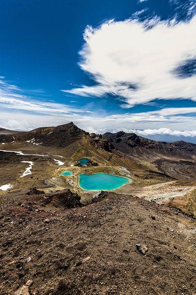 Emerald Lakes - Tongariro NP - Nieuw Zeeland van Ricardo Bouman