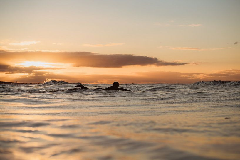 Sunset surf Domburg 3 sur Andy Troy