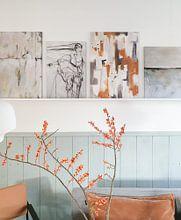 Klantfoto: Winter Textures van Maria Kitano, op canvas