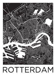 Rotterdam | Stadskaart ZwartWit van