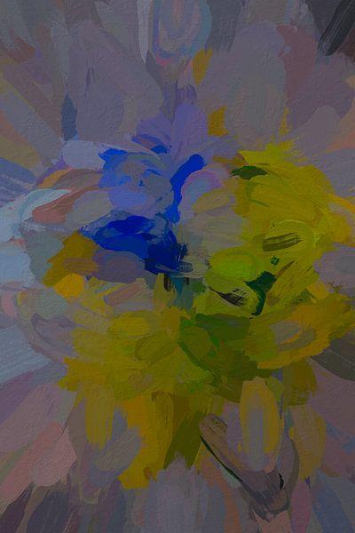Abstracte narcissen van Leo Luijten