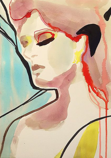 Türkisfarbene Träume von Helia Tayebi Art
