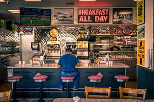 Retro stijl restaurant, Amerika van