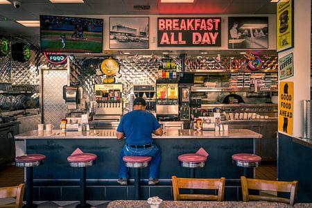 Restaurant im Retro-Stil, Amerika von Inge van den Brande