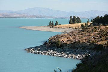 Blauw Meer Nieuw-Zeeland van Bijzonder Landschap