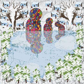 kunstwerken op een koude winterdag van EL QOCH