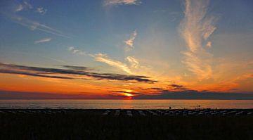 Zonsondergang Katwijk aan Zee van Jessica Berendsen