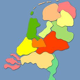 De kinderkamerkaart van Nederland van Frans Blok