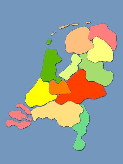 Die Kinderzimmerkarte der Niederlande von Frans Blok