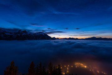 Mist over Pfronten van Denis Feiner