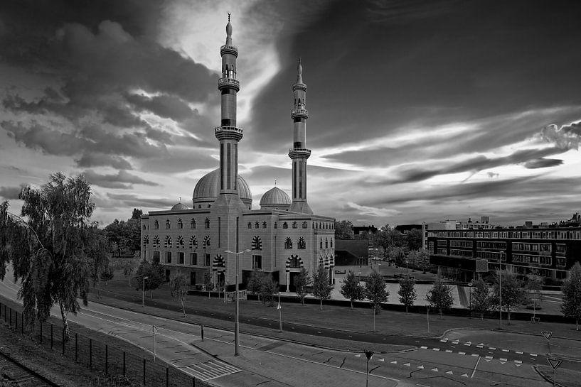 Essalam Moskee Rotterdam zwart / wit van Anton de Zeeuw
