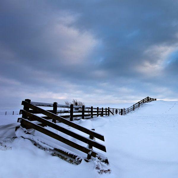Winter in Stavoren Friesland Vierkant formaat van Peter Bolman