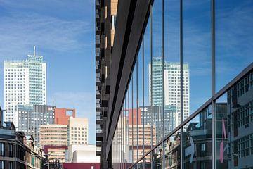 Reflexionen Rotterdam - Wilhelminapier von Rick van der Poorten