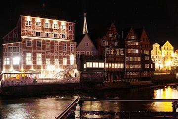 Lüneburg: Het Löseckehuis met kerstmis van Anja Bagunk