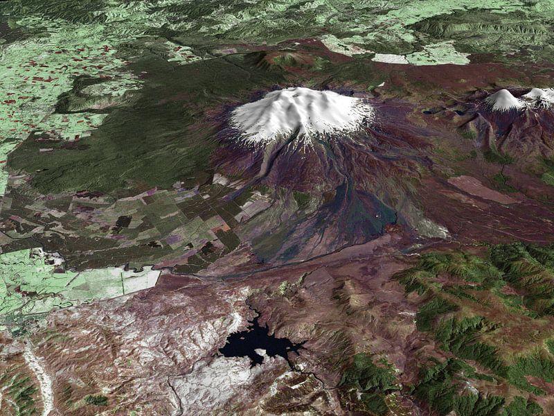 Mt. Ruapehu, New Zealand van Rebel Ontwerp