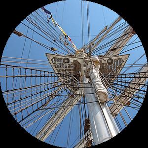 mast van een Tallship van hetto hettema