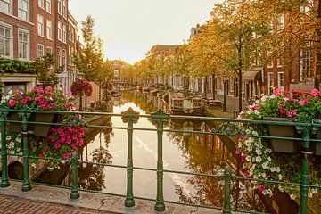 Leiden in de herfst von Dirk van Egmond
