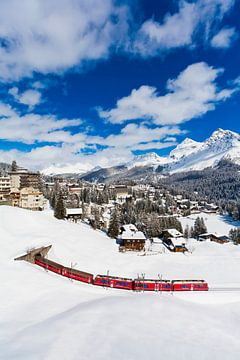 Rhätische Bahn in Arosa in der Schweiz von Werner Dieterich