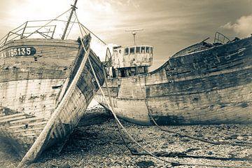 Verlassene Fischereifahrzeuge von Frans Nijland