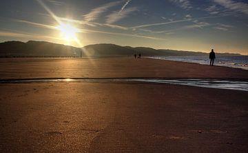 Lever de soleil sur la plage de Zoutelande sur MSP Canvas