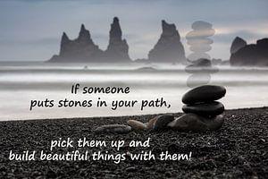 Stones in your path. von