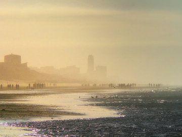 Zandvoort in de winter van Hans Heemsbergen