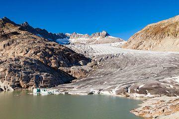 Rhône-gletsjer in Wallis, Zwitserland van Werner Dieterich